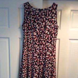 Confetti print dress